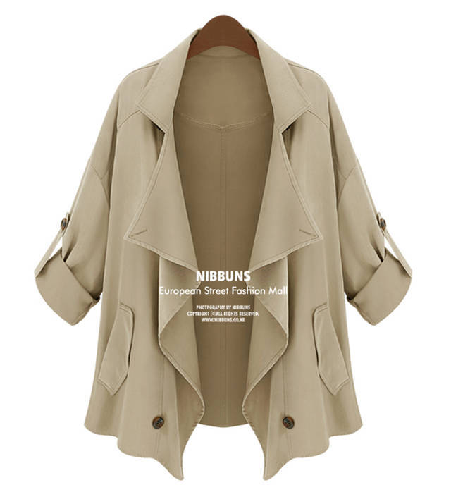 2014 autumn spring Coats Women Overcoats cotton lady Coats Manteau Abrigos Mujer womens coat