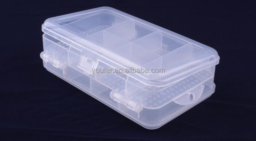 Double sides components storage container compartment plastic storage box