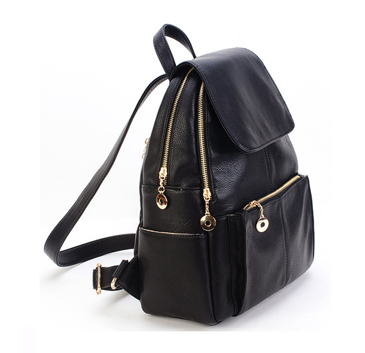 ac0d6e4f7e3 Fashion leisure women pu leather backpack, ladies fancy black backpack,  View leather backpack, Trendy Product Details from Shenzhen Trendy Leather  ...
