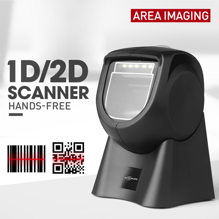Desktop image pos readers omnidirectional 2d qr code barcode scanner for supermarket