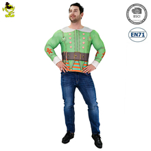 Men's 3D Digital Printing T-Shirt Funny Ugly Christmas Elf Sweater Cosplay Costume