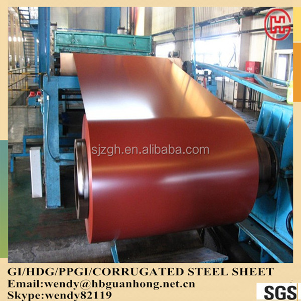 RAL 3009 0.45*1250mm z 120 prepainted galvanized steel coil