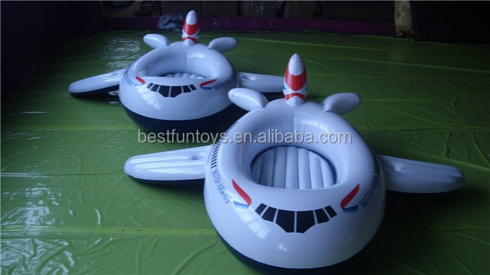 Inflatable Airplane Pool Float Kids Plastic Paddle Play