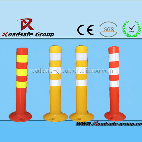 Plastic warning bollard Highway safety flexible delineator post traffic column
