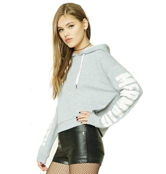 1fa31a2677d0 girls 100% cotton hip hop clothing plain crop top soft sweat shirts hoodie  sweatshirts women
