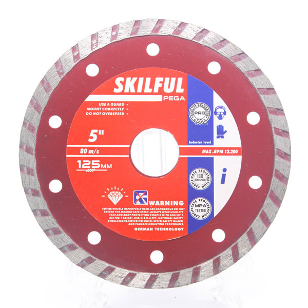 125MM continuous diamond cutting wheel for granite