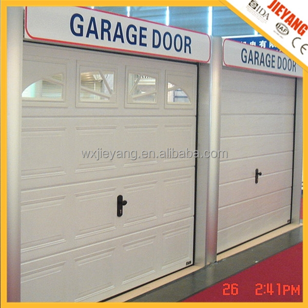 steel automatic garage door with lighting windows