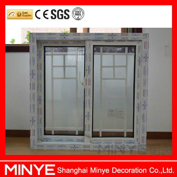 Pvc Sliding Window Grill Design With Double Tempered