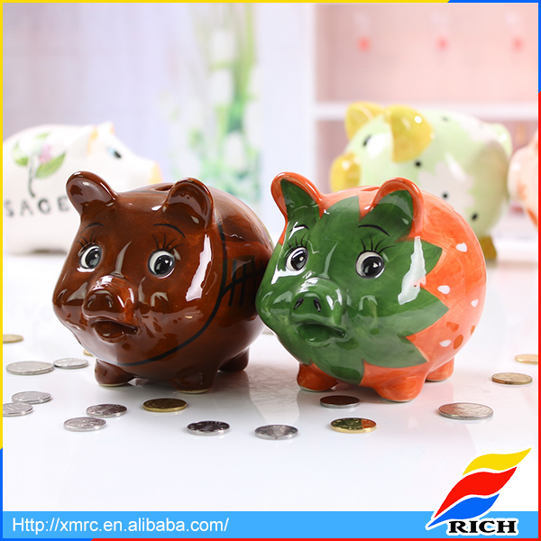 Hot sale antique money boxes ceramic animal piggy banks