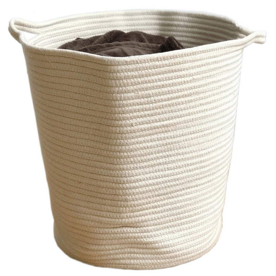 Get Quotations Extra Large Storage Baskets Woven Nursery Basket For Kids Toys Diaper Cotton Rope Laundry