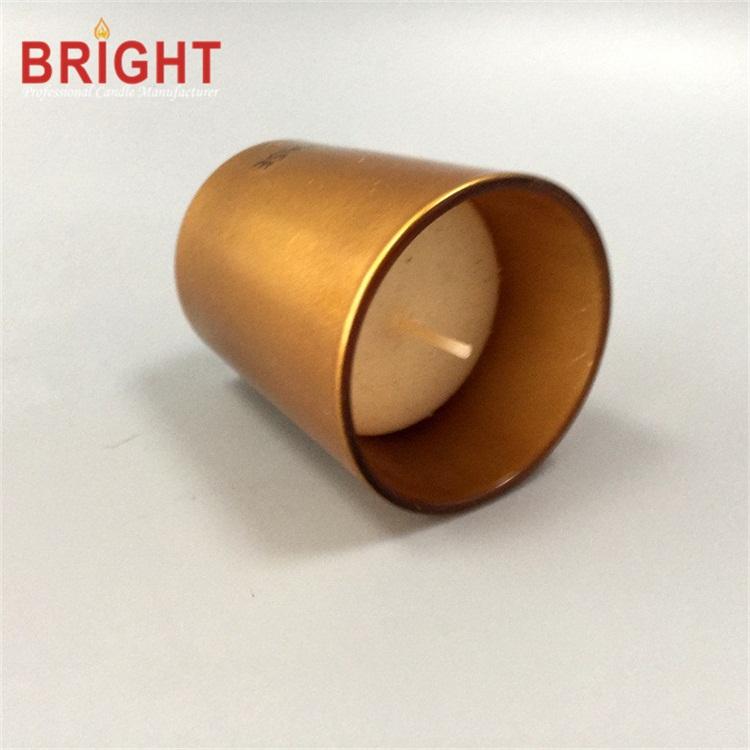 Gold Etched Hurricane Global Custom Gift Glass Jar Candle