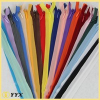 3#4#5# High Quality invisible zipper,nylon invisible zip,long chain invisible zips wholesale for shoes