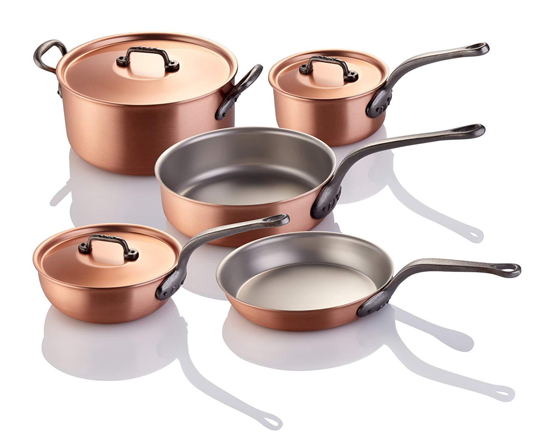FALK 8-piece Falk Copper Classical Line Chef's Set