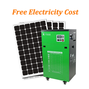 All In One Complete PV Solar Panel Kit Off Grid 5KW AC Inverter Portable Mobile Home Lighting Solar Generator Energy System