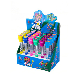 Novelty kids bubble stamp ball pen with stamp