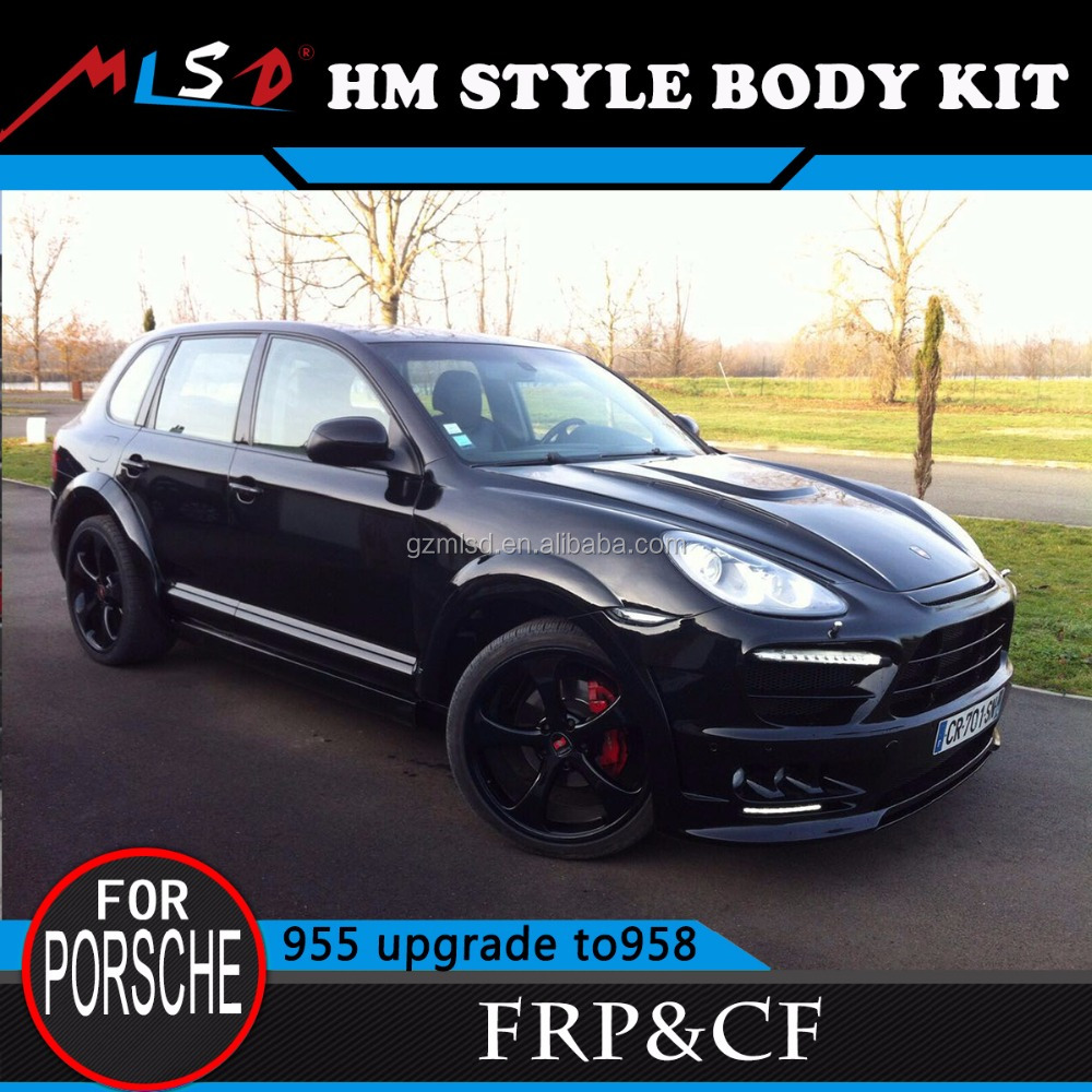 High Quality Hot sale MLSD fiber glass HM body kits styling for Porsche Cayenne 955 /957 upgrade to 958 facelift