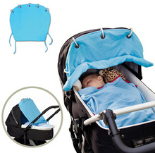 Baby carriage portable sunshade cloth curtain can be rolled up simply practical sunshade canopy cover for stroller free shipping
