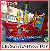 2014 giant inflatable pirate ship bouncer with many games