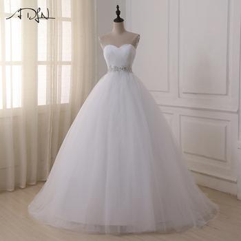 f59a15e011b5 Cheap Lace Wedding Dress O-Neck Tulle Boho Summer Beach Bridal Gown  Bohemian Wedding Gowns