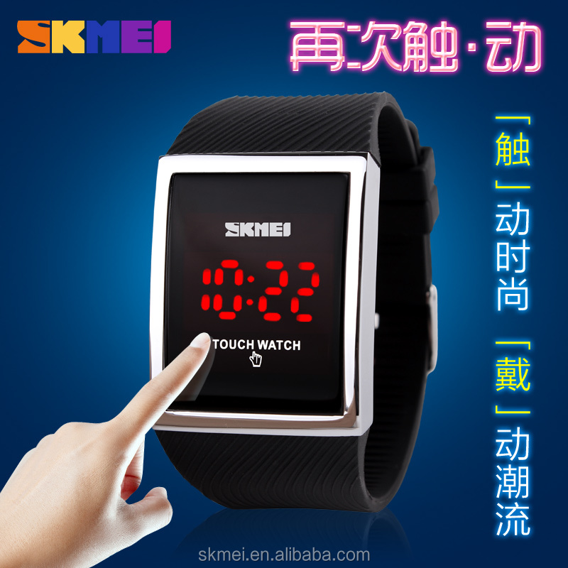 Led time digital watch brand wrist watch fashion square dial watch