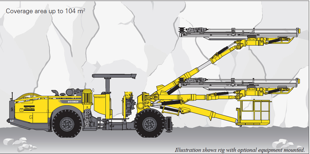 Atlas Copco Face Drilling Rigs Boomer Hydraulic Tunnelling and mining rig