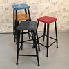 Foshan commercial furniture vintage industrial wrought iron tabouret bar stools