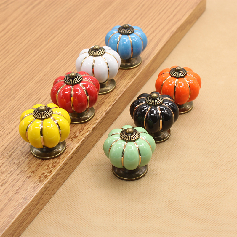 Colorful Kitchen Cabinet Knobs
