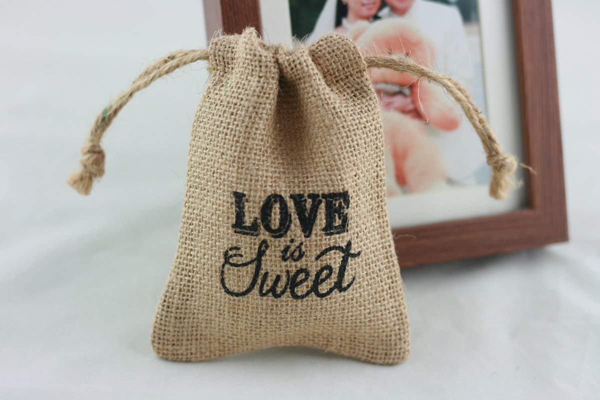 Get Quotations Cheonus 20pcs Burlap Candy Bags Hessian Gift Jewelry Pouch Sweet Linen Jute 10cm