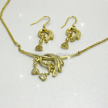Saudi Arabian Wedding Jewelry Set For Bridal Gold Half