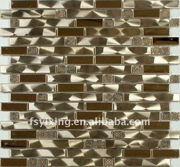 Tira Decorativa Mosaico Para Decoración De La Pared Y El Pisomosaico Del Metal Buy Mosaico Decorativotira De Acero Mosaicotira De Metal Mosaico