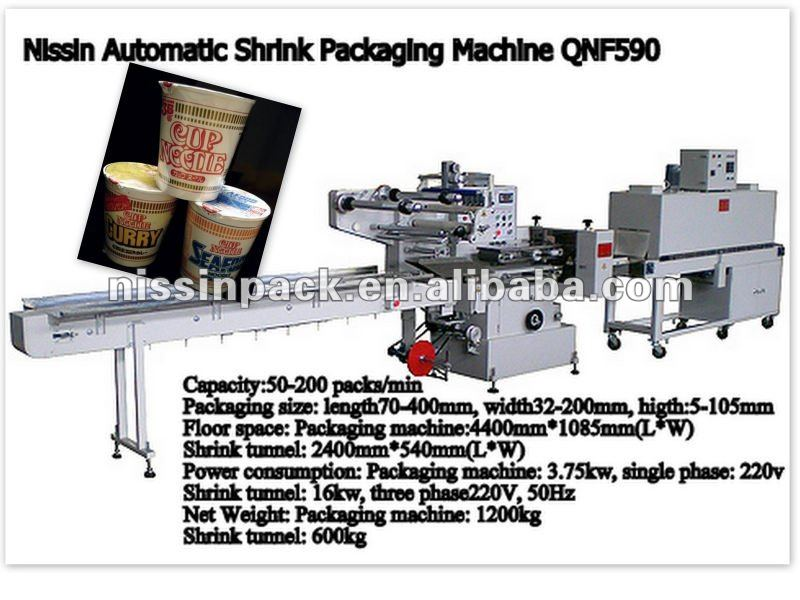 cup and bowl shrink wrapping machine