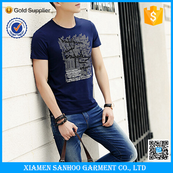 Garment Manufacturers High Quality Casual Design Mens Softextile Tshirt