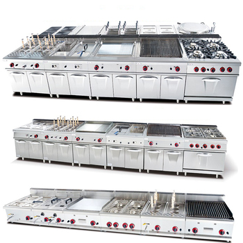 Industrial Stainless Steel Gas hotel kitchen equipment /restaurant equipment kitchen