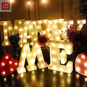 Custom made marquee lights letter sign decorative led light up love bulbs letters