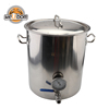 Stainless Steel 40L Beer Kettle Home Brewing Pot with Weldless Fittings DIY Kit
