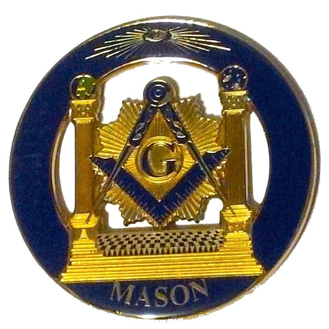 Buy Delux Master Mason Pillars Heavy Alloy Car Emblem In Cheap Price