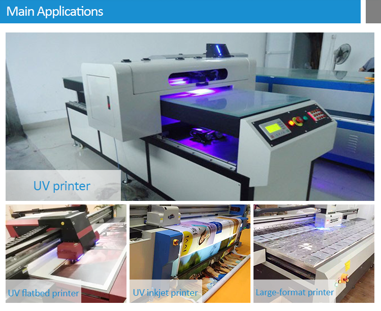 China made fast dryer machine uv led curing lighting 395nm  uv led uv light ultraviolet lamp  for Epson flatbed printer