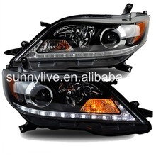 2011-2014 Year for TOYOTA Sienna LED Head Lights Black Housing SN