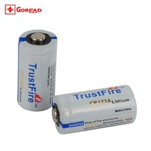 Trustfire CR123A 3V photo flashlight Lithium battery