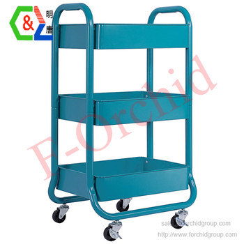 Beau Metal Rolling Storage Cart 3 Tiers Utility Mobile Organization Cart With  Handles Suitable For Office Home Kitchen Or Outdoor   Buy Rolling Craft ...