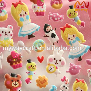 Wholesale customized pvc foam sticker,puffy sticker,3d sticker