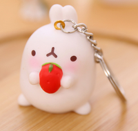 Creative sweet rabbit ornament rabbit keychain couple handbags accessories pendant