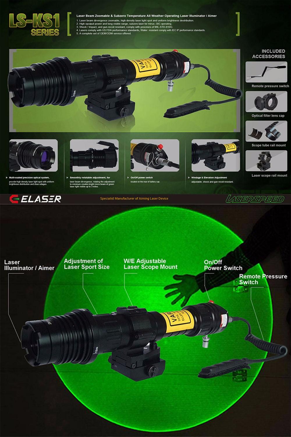 Laserspeed Handheld 500mw High Power Ir Laser Designator