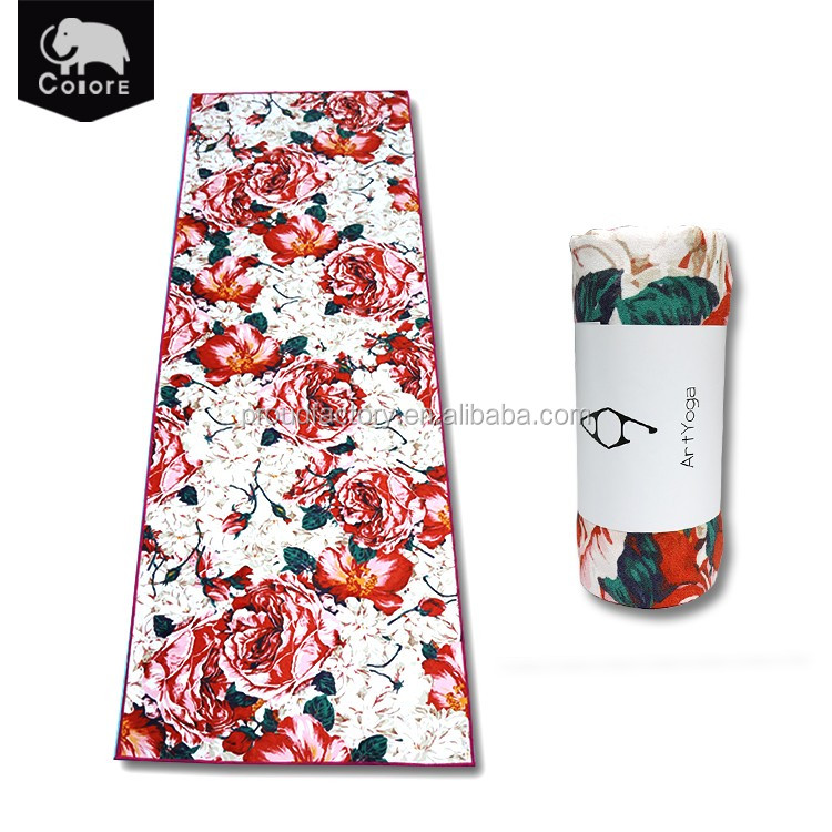Hot selling lightweight microfiber yoga mat towels for hot yoga