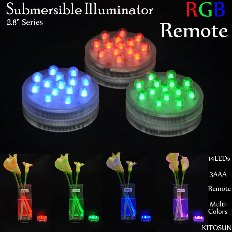 Wedding Party Home Decor Remote Controlled 14 Rgb Waterproof Led ...