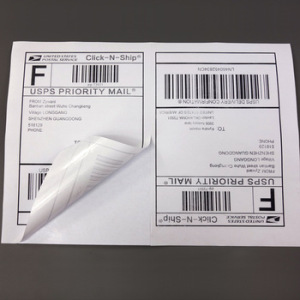 "Half sheet Self Adhesive Shipping labels A4 Sticker 2 per sheet size 5-1/2"" X 8-1/2"" label 5.5 x 8.5 inch"