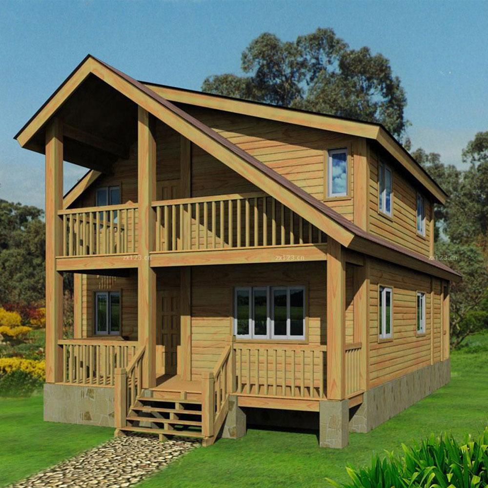 조립식 나무 집 빛 강철 목조 주택