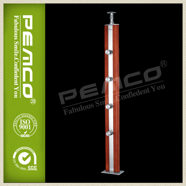PEMCO Stair Railing Modern Wood Balcony Cheap Balustrade
