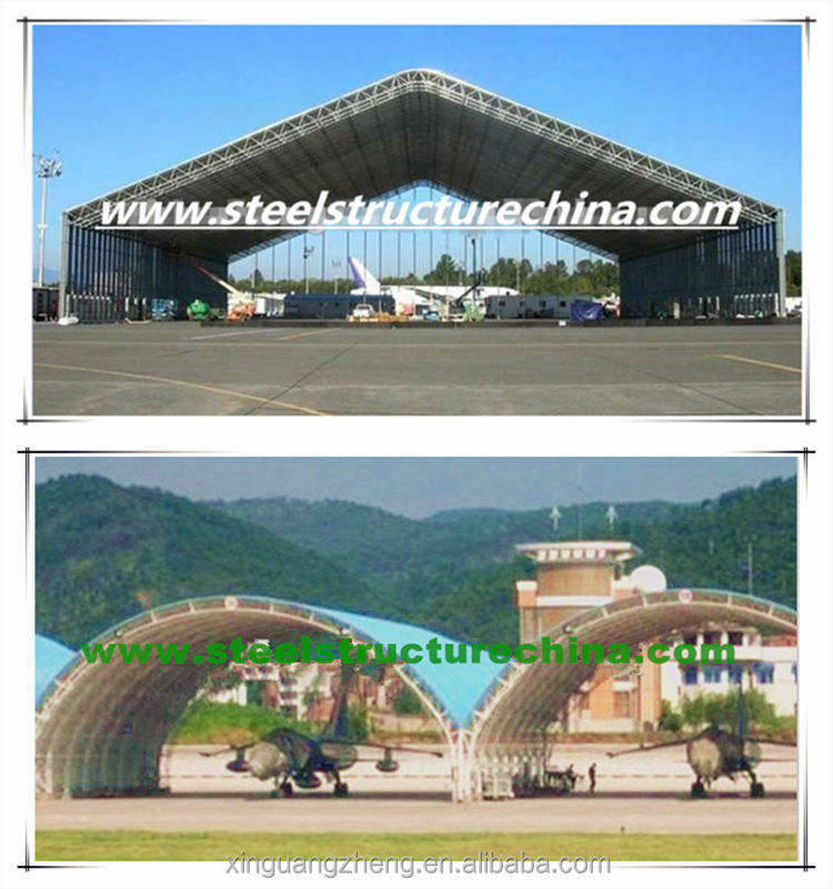 Steel truss structure aircraft hangar and shed