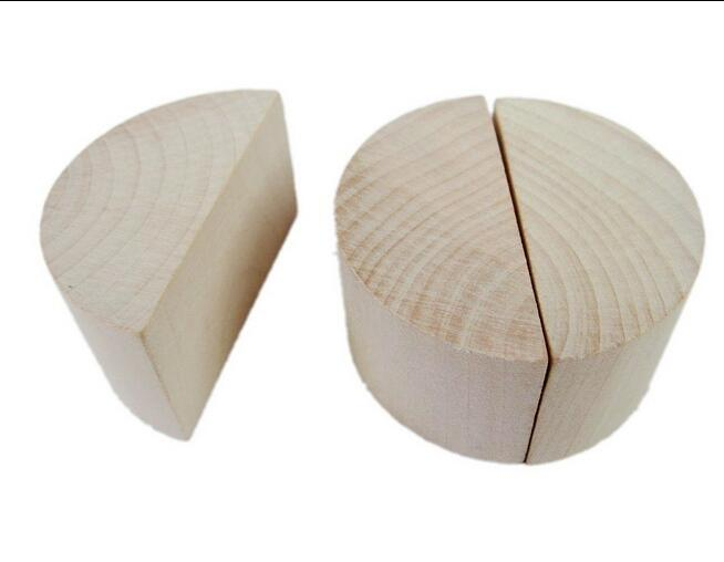 Montessori Teaching Aids Material Wood fan-shaped block wood half column block